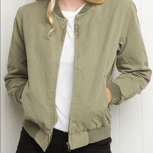 Olive Green Kasey Bomber Jacket